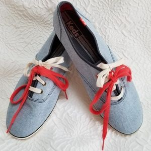 NWOY* Keds blue white Canvas Tie Sneakers